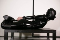 Black Catsuit + Hood & Belts