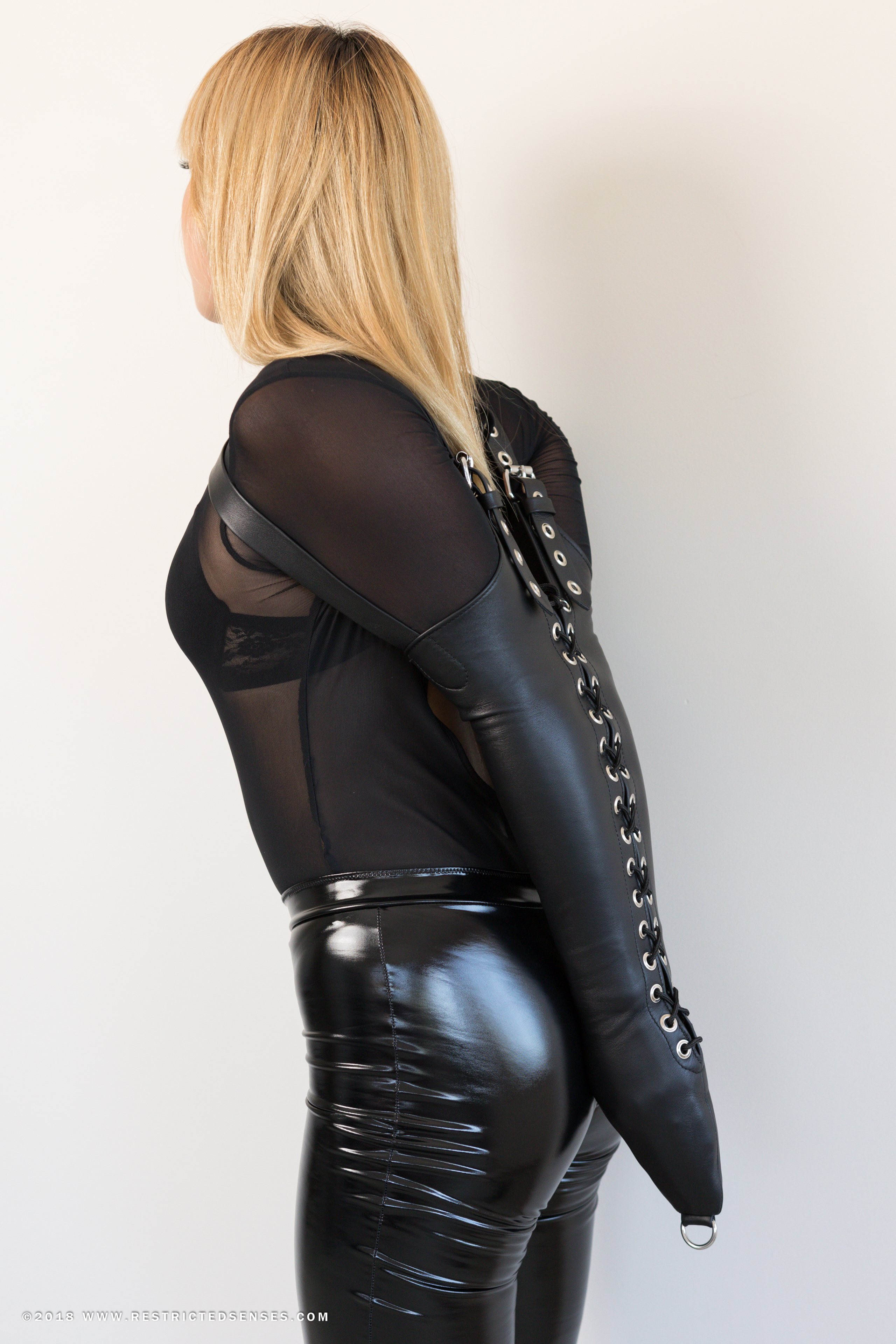 Leather Single Glove Armbinder Restricted Senses