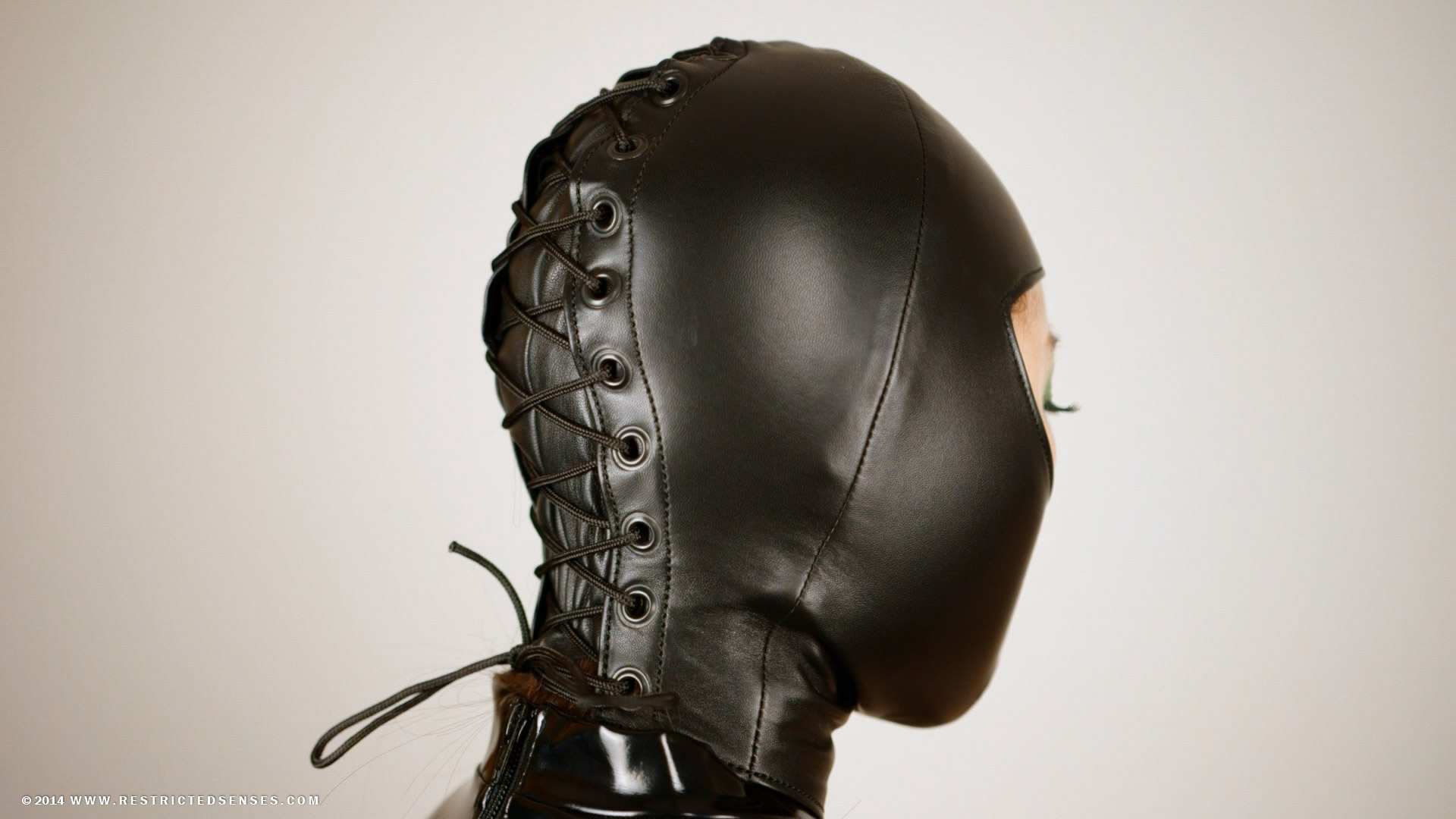 Custom leather womens bdsm hoods
