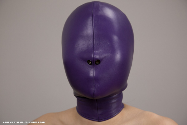What Is Leather Made Of >> Lambskin Leather Bondage Hood – Restricted Senses